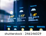 weather forecast interface on a ... | Shutterstock . vector #246146029