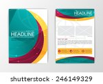 abstract curve brochure flyer... | Shutterstock .eps vector #246149329