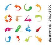 colorful vector arrows set | Shutterstock .eps vector #246149500