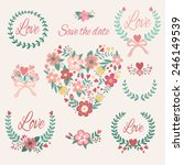 bright romantic collection with ... | Shutterstock .eps vector #246149539