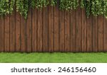 Garden With Old Wooden Fence ...