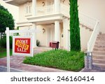 sold home for sale real estate... | Shutterstock . vector #246160414