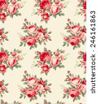 seamless floral wallpaper | Shutterstock .eps vector #246161863