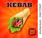 sandwich kebab   Shutterstock .eps vector #246172369