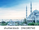 istanbul. beautiful view of...   Shutterstock . vector #246180760