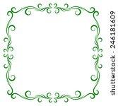 vintage frame design for... | Shutterstock .eps vector #246181609