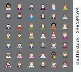 people diversity portrait... | Shutterstock .eps vector #246184594