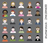 people diversity portrait... | Shutterstock .eps vector #246184600