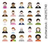 people diversity portrait... | Shutterstock .eps vector #246191740