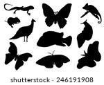set of animals silhouettes | Shutterstock .eps vector #246191908