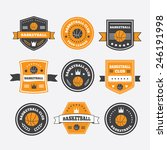 basketball set vintage emblems  ... | Shutterstock .eps vector #246191998