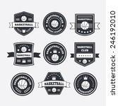 basketball set vintage emblems  ... | Shutterstock .eps vector #246192010
