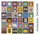 social media funky internet... | Shutterstock .eps vector #246196060