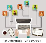 communication networks | Shutterstock .eps vector #246197914