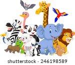 cartoon wild animals | Shutterstock . vector #246198589