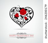 valentine's day card with... | Shutterstock .eps vector #246200179