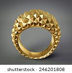 gold ring isolated on a grey.... | Shutterstock . vector #246201808
