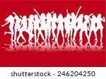 dancing people silhouettes | Shutterstock .eps vector #246204250