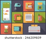kitchen appliances icons vector ... | Shutterstock .eps vector #246209839