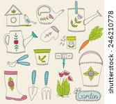 gardening design elements | Shutterstock .eps vector #246210778