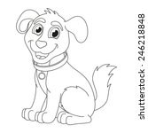 Cartoon Puppy  Vector...