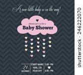 baby girl  invitation for baby... | Shutterstock .eps vector #246222070