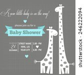 baby boy shower card   vector... | Shutterstock .eps vector #246222094