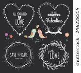 romantic and love illustrations ... | Shutterstock .eps vector #246228259