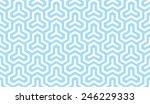 seamless blue isometric... | Shutterstock .eps vector #246229333