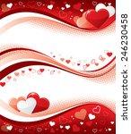 valentine banners | Shutterstock .eps vector #246230458