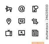 media icons   Shutterstock .eps vector #246235033