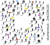 crowd people communication... | Shutterstock . vector #246238120