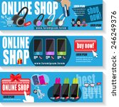online shop template set  ... | Shutterstock .eps vector #246249376