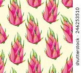 seamless tropical pattern with... | Shutterstock .eps vector #246253510