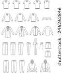 men's clothes  garment... | Shutterstock .eps vector #246262846