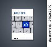 vector modern flyer or banner.... | Shutterstock .eps vector #246263140