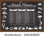 meat or steak menu on...   Shutterstock .eps vector #246264820