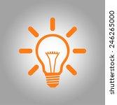 light lamp sign icon. idea bulb ... | Shutterstock .eps vector #246265000