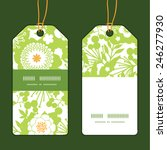 vector green and golden garden... | Shutterstock .eps vector #246277930