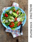 fresh vegetable salad in a bowl | Shutterstock . vector #246278248