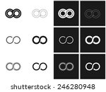 Infinity Symbol Set In Grey An...
