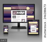 application template design for ...   Shutterstock .eps vector #246288673