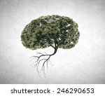 Conceptual Image Of Green Tree...