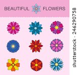 backgrounds floral theme. the... | Shutterstock .eps vector #246290758