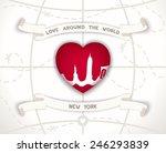 creative poster   love around... | Shutterstock .eps vector #246293839
