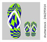 colorful flip flops set | Shutterstock . vector #246295414