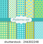 pattern set yellow and blue | Shutterstock .eps vector #246302248