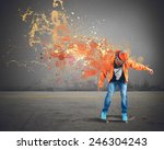 boy with skate leaves a... | Shutterstock . vector #246304243