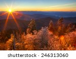 Sunrise Over Smokies With Fros...