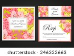 wedding invitation cards with... | Shutterstock .eps vector #246322663
